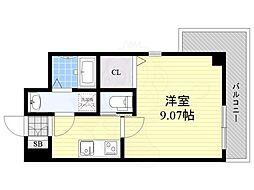 Osaka Metro御堂筋線 江坂駅 徒歩9分の賃貸マンション 6階1Kの間取り