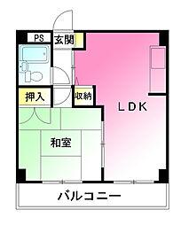 ブリックハウス[4B号室]の間取り