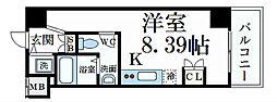 阪神本線 深江駅 徒歩1分の賃貸マンション 5階ワンルームの間取り