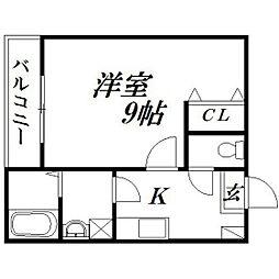 静岡県浜松市中区相生町の賃貸アパートの間取り
