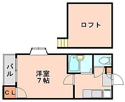 ローズ博多[2階]の間取り