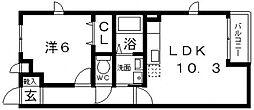サンフラット布忍[1階]の間取り