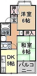 ルミネス瀬田[205号室号室]の間取り