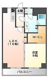 内田ロイヤルハイツ[5階]の間取り