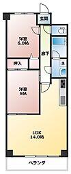 マートルコート鶴ヶ島[10階]の間取り