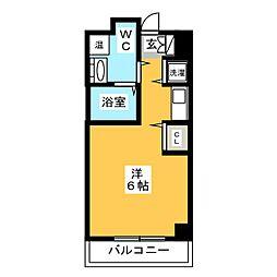県庁前シティピアエクセル30[7階]の間取り