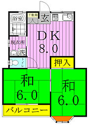 鈴木コーポ[203号室]の間取り