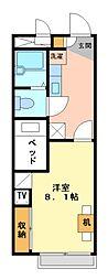 兵庫県加古郡播磨町二子の賃貸アパートの間取り