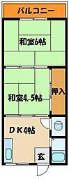 三陽マンションNo1[2階]の間取り