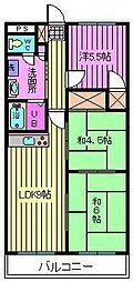 上小町大鉄ビル[102号室]の間取り