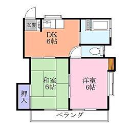 山口荘1号棟[2階]の間取り