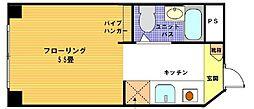 ヴェール横浜[2階]の間取り