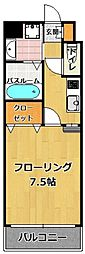 エンクレスト藤崎[7階]の間取り