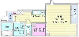 JR東北本線 長町駅 4.3kmの賃貸アパート 1階1Kの間取り