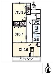 ブルースカイマンションIII[2階]の間取り