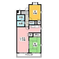ウイステリアパレス[4階]の間取り