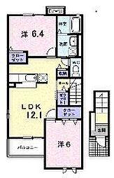 パールウィング3[2階]の間取り