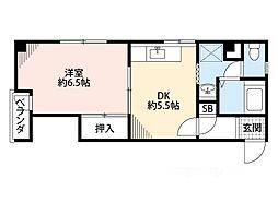 コーポ千島[4階]の間取り