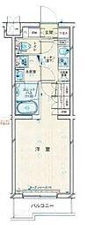 JR南武線 武蔵新城駅 徒歩11分の賃貸マンション 2階1Kの間取り