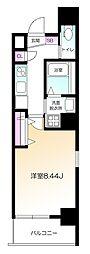 東京メトロ南北線 麻布十番駅 徒歩8分の賃貸マンション 3階1Kの間取り