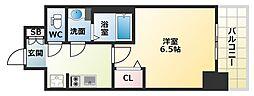 Osaka Metro中央線 九条駅 徒歩5分の賃貸マンション 7階1Kの間取り