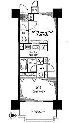 東京都港区白金台1丁目の賃貸マンションの間取り