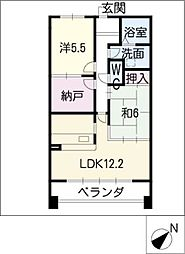 YGMマンション上小田井[6階]の間取り