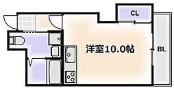 大阪府大阪市浪速区幸町1丁目の賃貸マンションの間取り