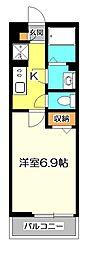 東京都国立市青柳1の賃貸マンションの間取り