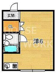 エリントンズハウス[4B号室号室]の間取り