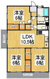 新武蔵野スカイハイツ[8階]の間取り
