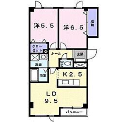 エール花繁イン平岡 B棟[2階]の間取り