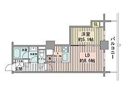 北海道札幌市中央区南九条西1丁目の賃貸マンションの間取り