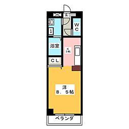 ソレーユ岡崎[2階]の間取り