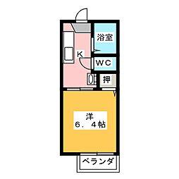 サンモール天神[2階]の間取り