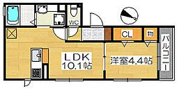 リッシュクレール[3階]の間取り