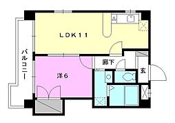 Kマンション No.6[901 号室号室]の間取り