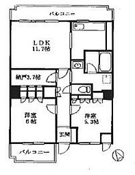 エクレール横浜[3階]の間取り