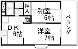 メゾンドールユキ[305号室]の間取り