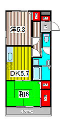 木曽呂ハイツA[106号室]の間取り