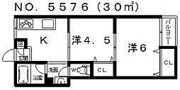 ユニライフマンション[201号室号室]の間取り