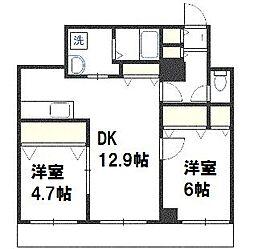 北海道札幌市豊平区福住二条4丁目の賃貸マンションの間取り