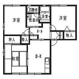兵庫県高砂市梅井1丁目の賃貸アパートの間取り