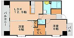 第10マルヤビル箱崎[2階]の間取り