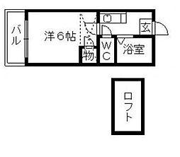 福岡県福岡市博多区相生町2丁目の賃貸アパートの間取り