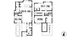 [一戸建] 兵庫県川西市南花屋敷2丁目 の賃貸【/】の間取り