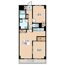 ロードプラザITO 405号室[4階]の間取り