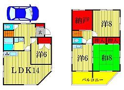 [一戸建] 東京都葛飾区金町5丁目 の賃貸【/】の間取り