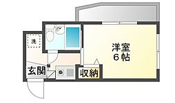 広島県呉市三条3丁目の賃貸マンションの間取り