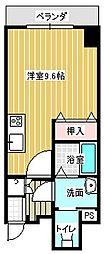 名古屋市営東山線 本山駅 徒歩6分の賃貸マンション 3階ワンルームの間取り